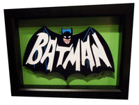 "Batman 1966 Logo 3D Art (5x7"" version)"