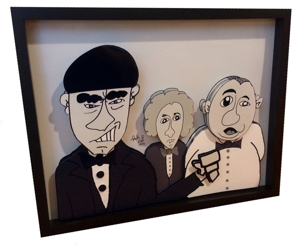 Three Stooges 3D Art