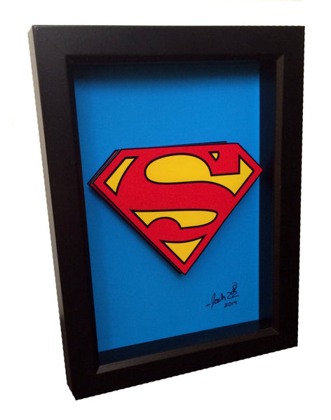 Superman Logo 3D Art