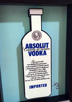 Absolut Vodka Bottle 3D Art