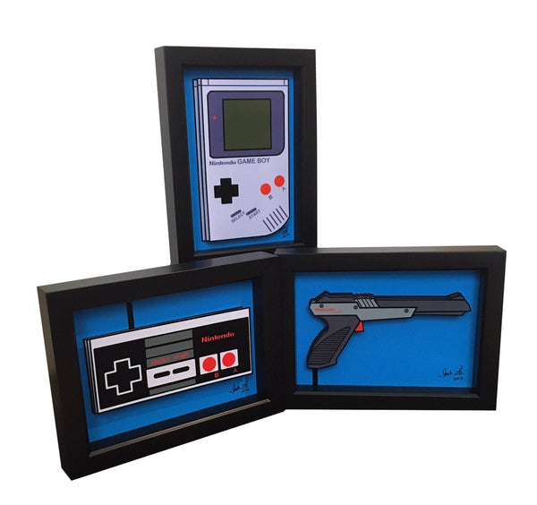 Nintendo Controller, Game Boy & Zapper 3D Art
