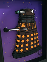 Doctor Who Dalek 3D Art