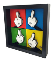 Middle Finger 3D Art