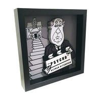 "Alfred Hitchcock 3D Art (12x12"" version)"