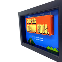 Super Mario Bros Title Screen 3D Art