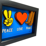 Peace Love Paws 3D Art