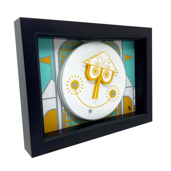 Small World Clock 3D Art