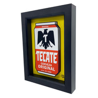 Tecate Beer Can 3D Art