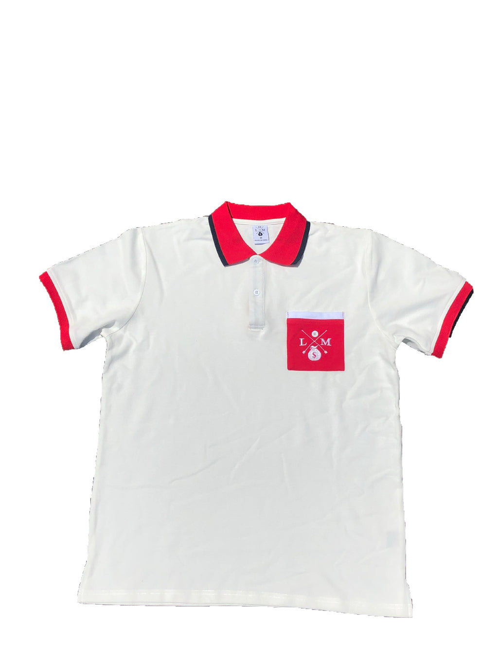 WHITE NEW LOGO COLLARED SHIRTS
