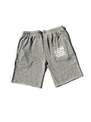 Faded In Grey LOM Shorts