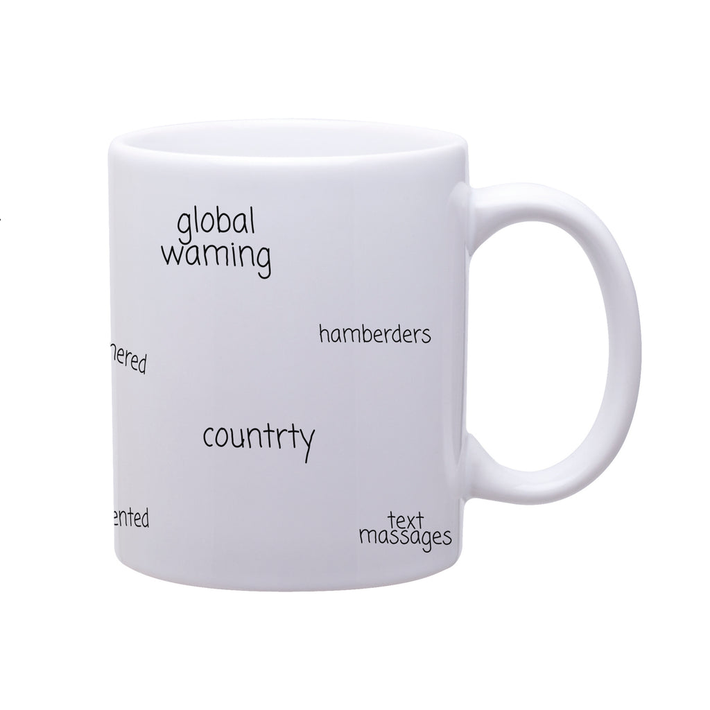 The Trump Twitter Typos from the Throne Mug