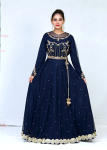 Net Blouse Back & Front With Corra, Dupka  Pearls Sharara With Lace Work & Dupatta