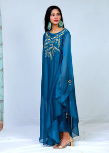 Georget Style Hand Work Long Frock With Trouser