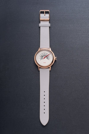 UNI GOLD - white + rose gold band