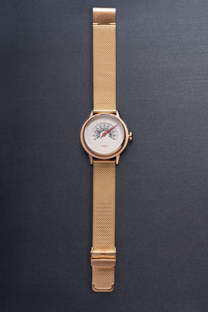 UNI GOLD - brown + rose gold band