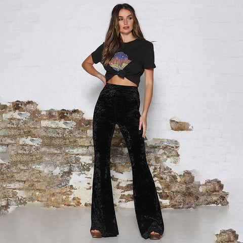 High waist flare trousers Stacey