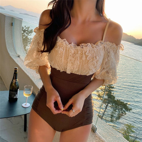 One-Piece Swimsuit Lace
