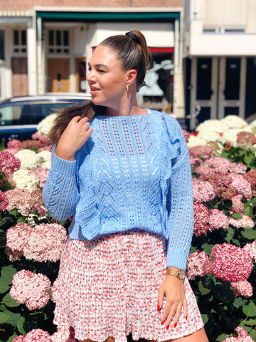 Knitted Jumper Blue Sky