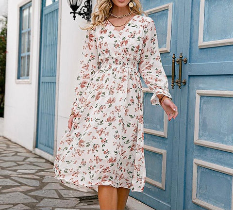 Floral Ruffle Dress Sam
