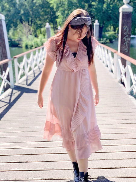 Ruffle Dress Nude