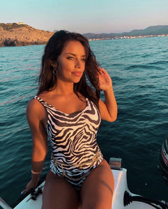 Zebra Print Swimsuit-Daily Instyle