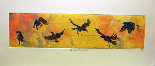 Crow Dance Etching - Dawn Crow Variation 1