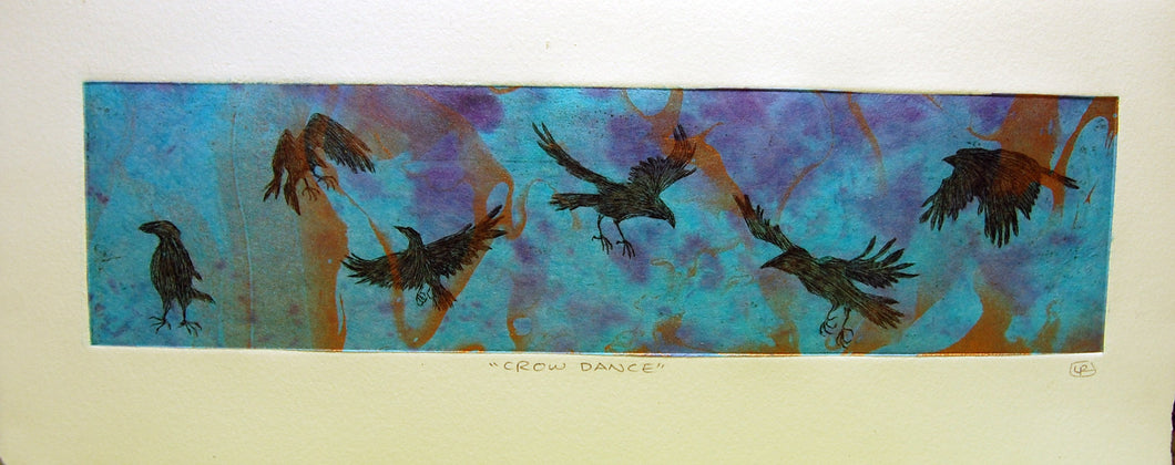 Crow Dance Etching - Dusk Crow Variation 1