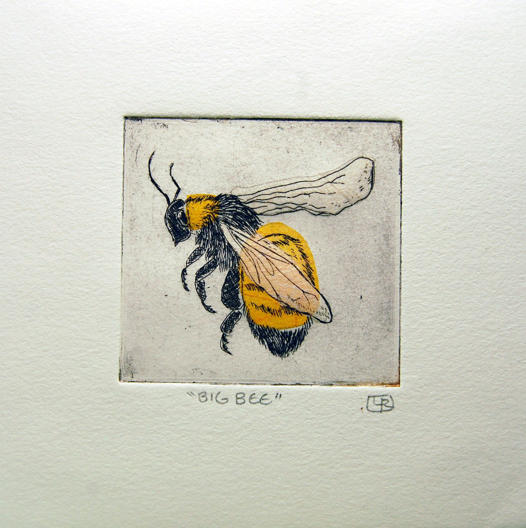 Big Bee Etching