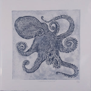Octopeace Octopus Etching Blue
