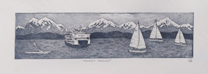 Puget Sound Etching