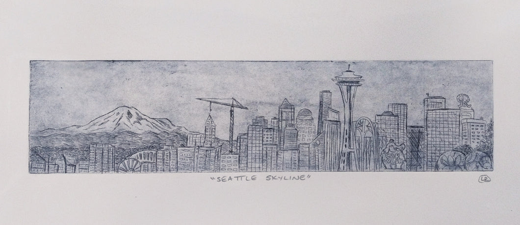 Seattle Panorama Etching