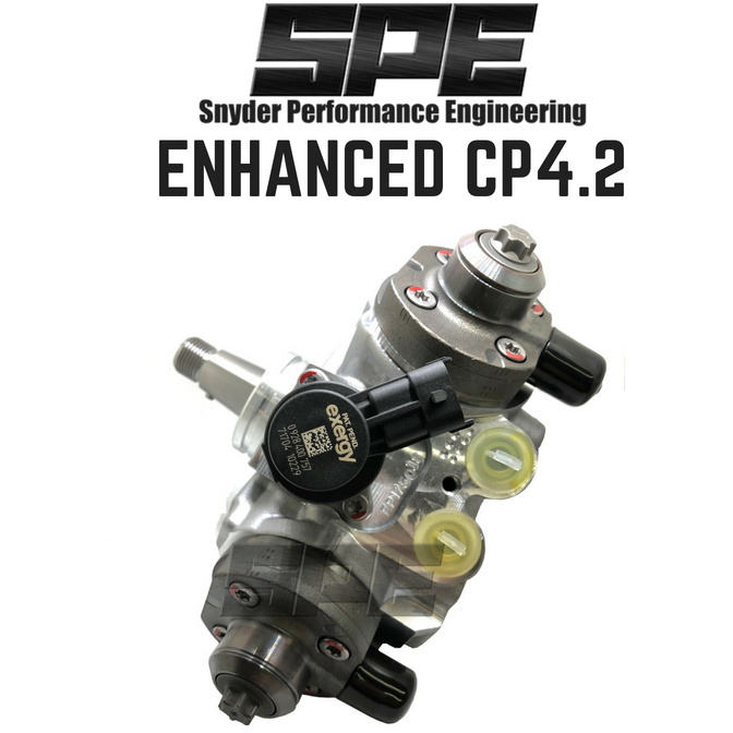 SPE Enhanced CP4.2 High Pressure Fuel Pump for 2011-2019 Ford Powerstroke 6.7L Diesel
