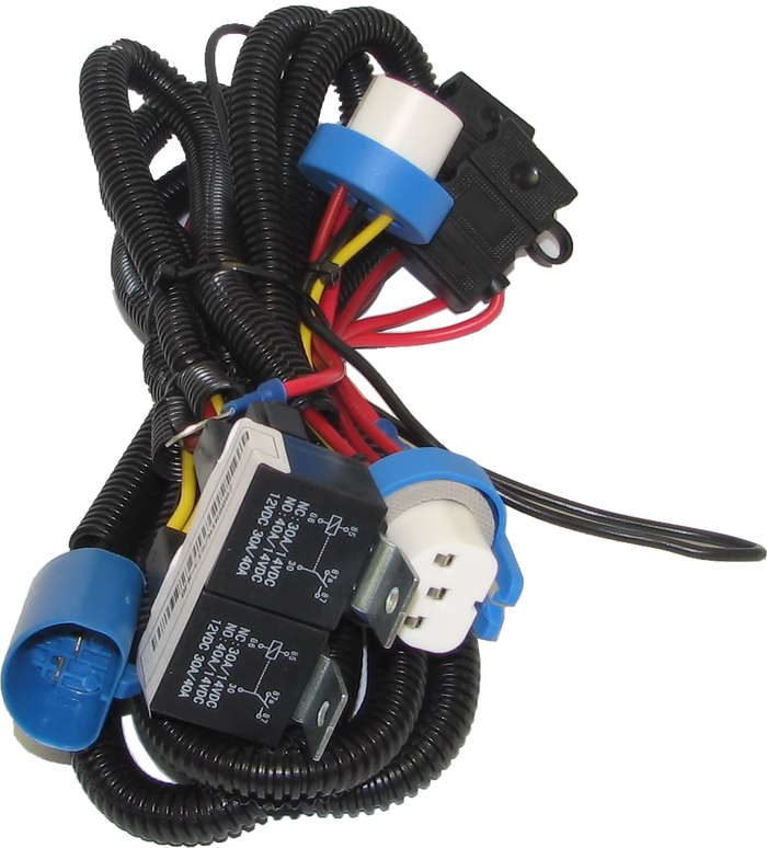 Dfuser 9007 Headlight Heavy Duty Wiring Harness Upgrade for 1994-2003 Ford Powerstroke 7.3L Diesel