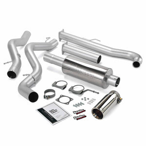 "Banks Power 4"" Single Monster Exhaust System for 2001-2005 GM Duramax 6.6L LB7/LLY Diesel"