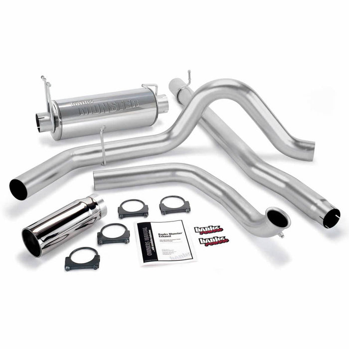 "Banks Power 48653 4"" Single Monster Exhaust System"