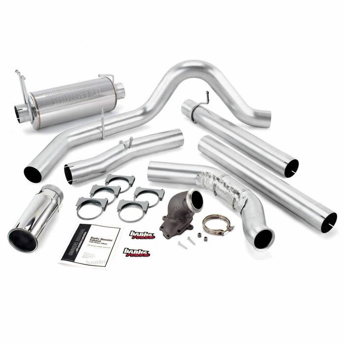 "Banks Power 48660 4"" Single Monster Exhaust System with Power Elbow"