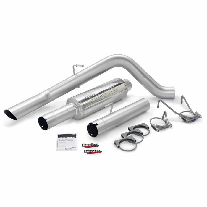 "Banks Power 4"" Single Monster Sport Exhaust System for 2004.5-2007 Dodge Cummins 5.9L Diesel (SCLB/CCSB)"