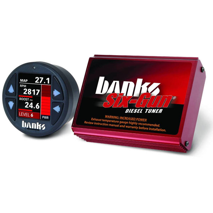 Banks Power Six-Gun Diesel Tuner with iDash 1.8 Super Gauge for 2004.5-2005 GM Duramax 6.6L LLY Diesel
