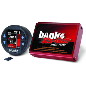 Banks Power Six-Gun Diesel Tuner with iDash 1.8 DataMonster for 2006-2007 GM Duramax 6.6L LBZ Diesel