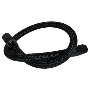 Fleece FPE-CLNTBYPS-HS-CRVP-BLK Black Nylon Braided Coolant Bypass Hose