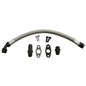 Fleece Turbo Drain Tube Kit for 2003-2018 Dodge Cummins 5.9L/6.7L Diesel with 2nd Gen Swap