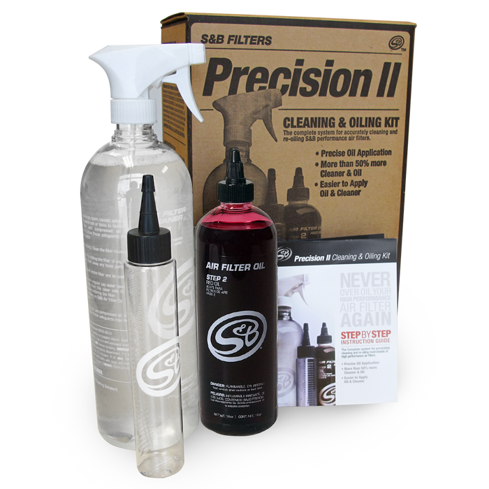 S&B Filters 88-0008 Precision II: Cleaning & Oil Kit - Red Oil