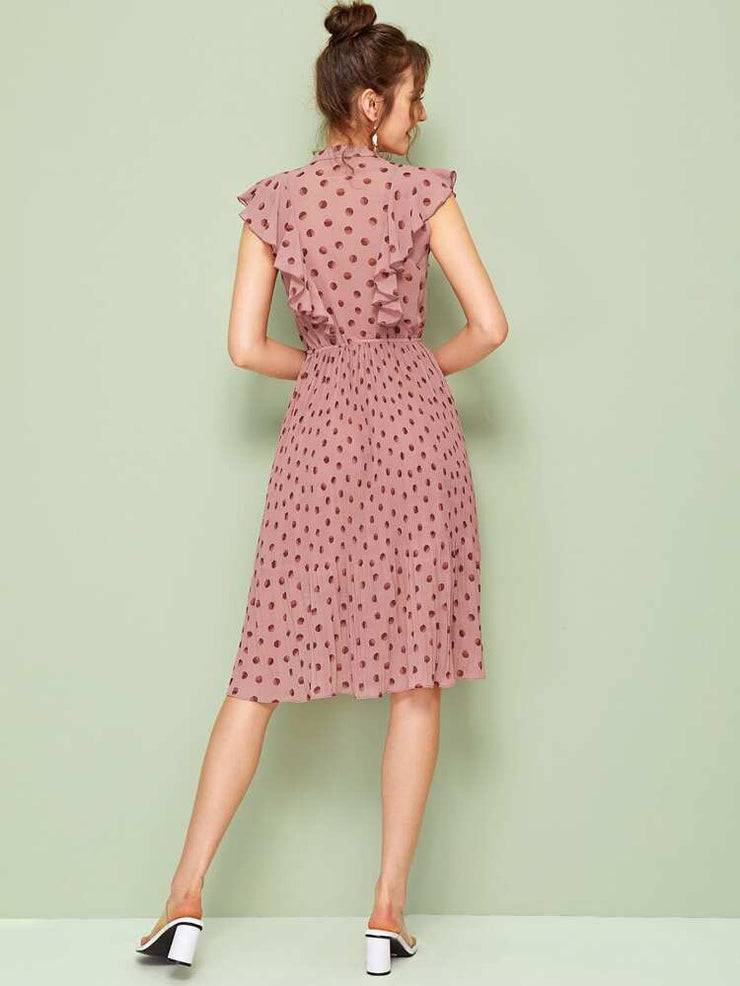 Emilia Polka Dot Ruffles Dress