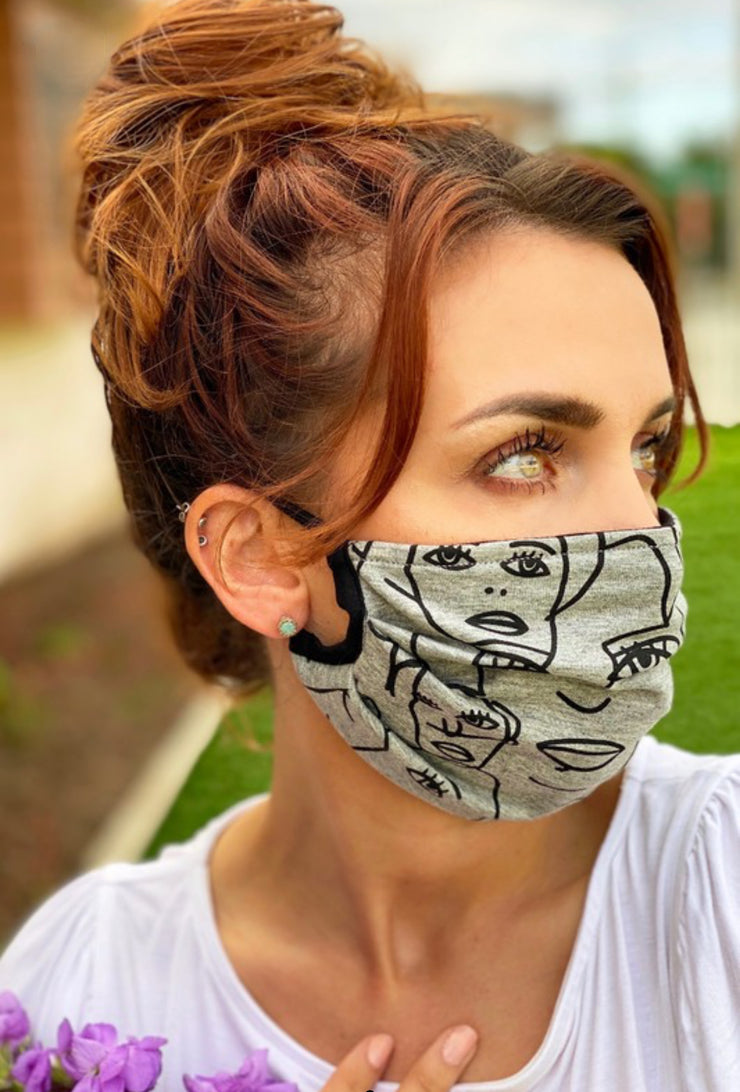 Picasso Cotton Jersey Face Mask