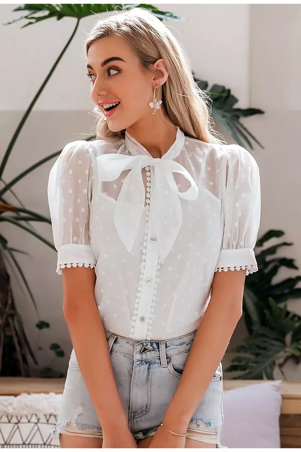 Michelle Bow Tie Top