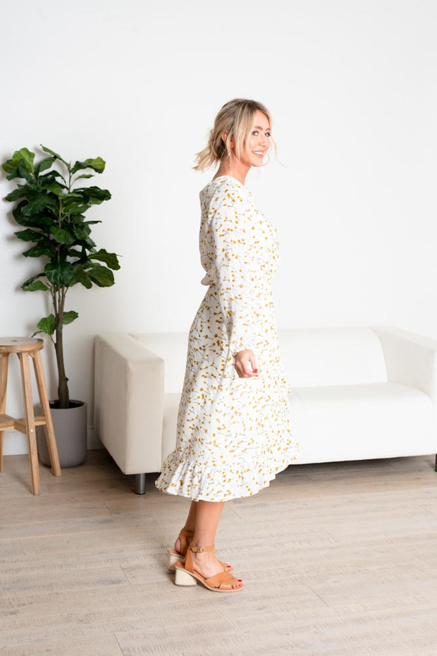 TURIN FLORAL WRAP DRESS