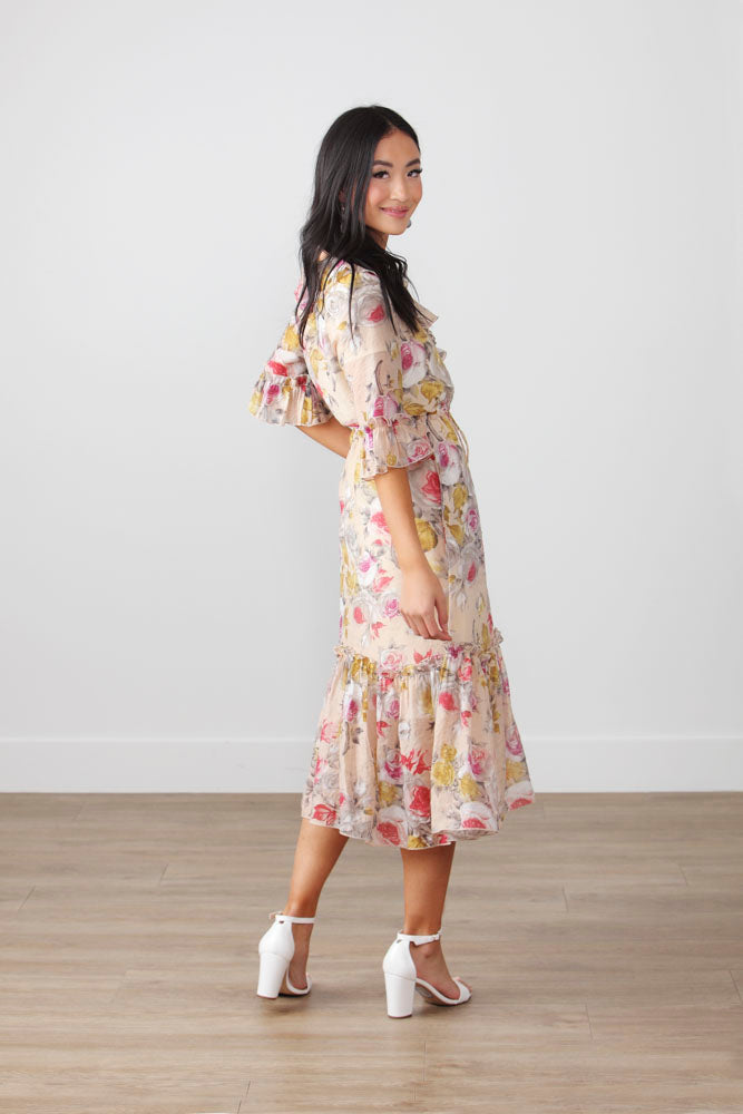 FULL OF LOVE FLORAL DRESS
