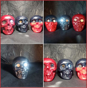 Medium Skull with Mirror Eyes - Two Toned