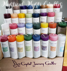 Crystal Journey Intention Candles