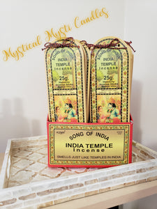 Song of India ~ Indian Temple Stick Incense